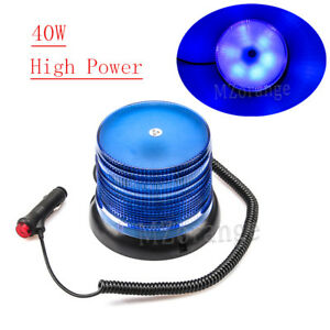 Blue Roof Top Car Truck Magnetic Emergency Warning Flash Beacon Strobe Light