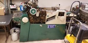 Used Printing Press Chief 15 With Kompac And Big Foot Suction System