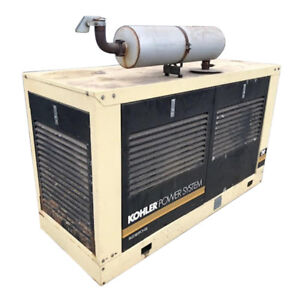 Used Single Phase Natural Gas Generator For Sale 18 Kw Kohler Enclosed 120 240 V