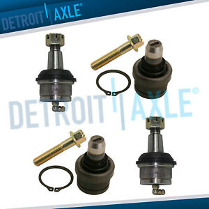New 4pc Front Suspension Upper And Lower Ball Joint Kit For Ford