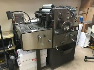 Ab Dick 9850 2 Color Offset Press With Kompac And T 51 Head