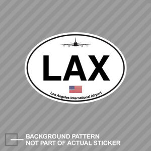 Los Angeles Airport Euro Oval Sticker Decal Vinyl Lax California