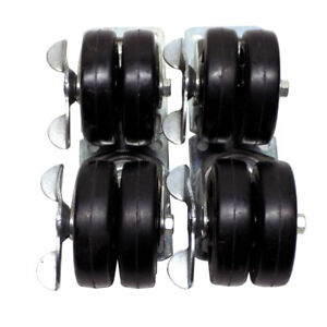 lot Of 4 Payson 3 X 2 Casters Industrial Swivel Locking Galvanized Steel