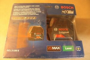 Bosch Self leveling Cross line Laser W Plumb Points Wisimax 65ft Gcl 2 160 S
