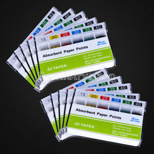20packs Dental Absorbent Paper Points Endodontics Root Cleaning Pp 0 02 15 40