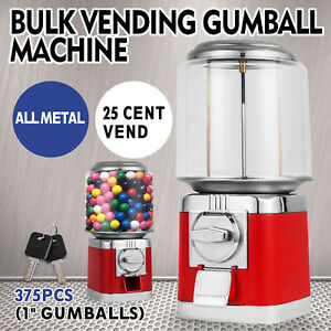 Bulk Vending Gumball Machine Countertop Treat Dispenser All Metal W Keys