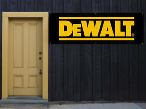 Dewalt Power Tools Vinyl Banner 2 x5 13 Oz Garage Or Any Event Ready To Hang