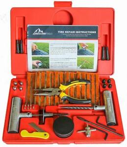 Boulder Tools 56 Pc Heavy Duty Tire Repair Kit For Car Truck Rv Jeep