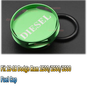 New Diesel Billet Aluminum Magnetic Fuel Cap For 13 18 Dodge Ram 1500 2500 3500