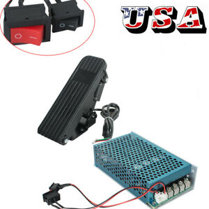 Reversible Dc Motor Speed Controller Pwm Control Soft Start 10 50v W pedal Brake