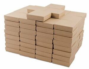 Kraft Cotton Filled Jewelry Box 33 case Of 100 Measures