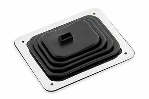 Mr Gasket 9648 5 1 4 X 6 1 2 Universal Rubber Stick Shifter Boot Chrome Plate