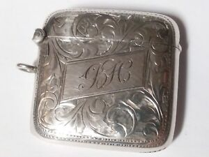 Gorgeous Sterling Silver Vesta Match Case Great Engravings