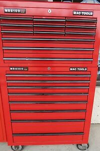 Mac Tools Mb8100 Mb8200 Top Bottom Rolling Tool Chest Box