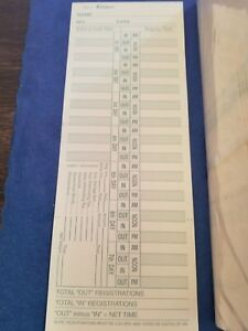 500 Time Cards Two Side Weekly overtime Used For Amano Acroprint Lathrm