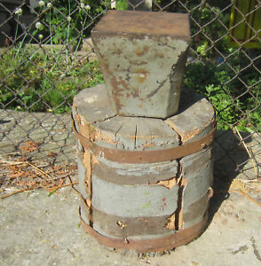 24 Lbs 11 Kg Total Weight Antique Anvil Wooden Base