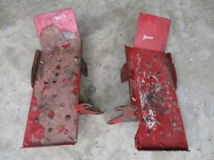 Ih Farmall 300 Utility Foot Rest With Mounting Brackets Pair Antique Tractor