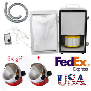 Usa Fda 370w Dental Dust Collector Vacuum Cleaner Device 2x Desk Suction Base