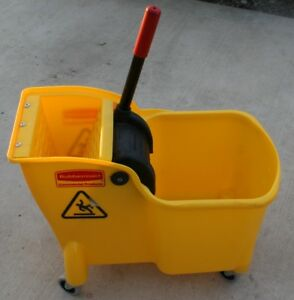 Rubbermaid Mop Bucket And Wringer 31 Qt Yellow Fg738000yel