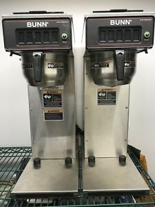 Lot Of 2 Commercial Bunn Pourover Airpot Coffee Brewer Model Cw15 aps Pf