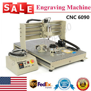 Usb 1500w 4axis 6090t Cnc Router Engraver Milling Cutting Machine Vfd 110v Usa