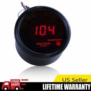 2 52mm Black Car Truck Digital Red Led Water Temp Temperature Led Gauge Kit Att