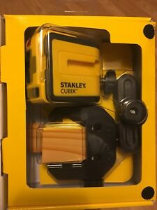 Stanley Laser Level Cubix Cross Line Self leveling Wall Layout Stht77340 New