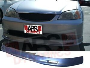Mugen Style Front Lip For 2001 03 Honda Civic 2 4dr Unpainted Polyproplyene