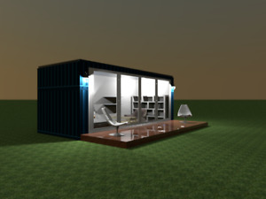 Prefab Home Container Zguesthouse Backyard Shed House Hotel Cabin 20ft 120sf