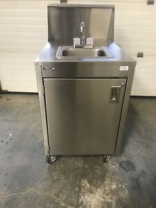 Qualserv Stainless Steel Portable Hand Wash Sink W Water Heater Nsf