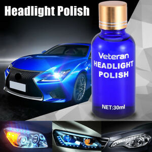 Headlight Lens Restoration System Car Plastic Light Polishing Cleaner Repair Kit