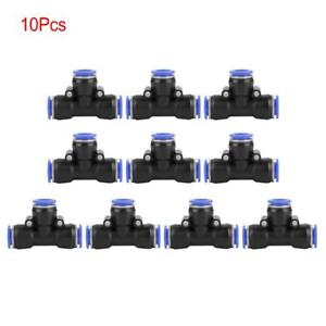 10pcs Tube Od 12mm 1 2 Tee Union Pneumatic Push Connector Air Line Quick Fitting