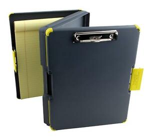 Duo Clipcase Clipboard Dual Sided Poly Storage Case And Organizer Yellow