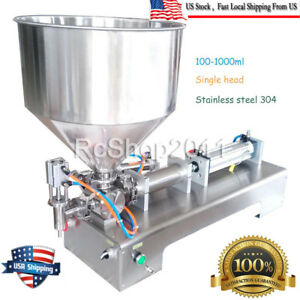 100 1000ml Automatic Filling Machine For Cream Honey Sauce Cosmetictooth Paste