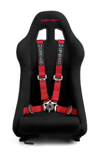 Cipher Auto Racing Harness Set red 4 Point 2 W Camlock Quick Release Pair