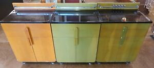 Hamilton Art Deco Solid Wood Medical Cabinet 3 Cabinets