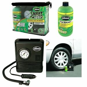 Emergency Slime Smart Repair Tyre Pump Puncture Inflator Compressor Sealant Kit