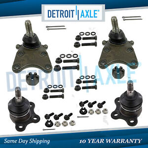 4pc Front Upper And Lower Ball Joints 2004 2012 Colorado Canyon Torsion Bar