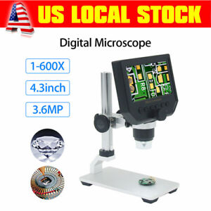 600x 4 3 Lcd 3 6mp Electronic Digital Video Microscope For Mobile Phone Repair