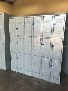 Penco Used 18 Door 3 Tier Employee Locker