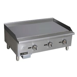Commercial 36 Manual Control Gas Griddle Grill Nat Or Lp Brand New Flat Top