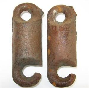 Window Sash Pulley Weights Pair 5 5 Inch 1 13 Ounce Each Steampunk Hook Eye