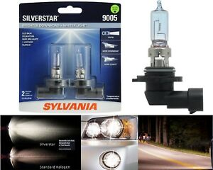 Sylvania Silverstar 9005 Hb3 65w Two Bulbs Head Light Dual Beam Replace Upgrade