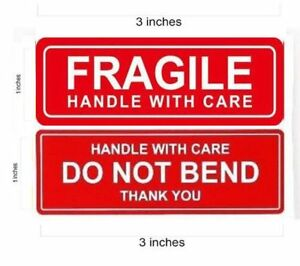 1 X 3 Fragile Sticker Do Not Bend Stickers Thank You Handle With Care Qs