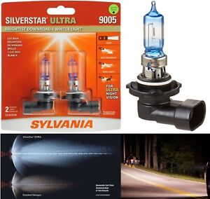 Sylvania Silverstar Ultra 9005 Hb3 65w Two Bulbs Head Light Hi Beam Replacement