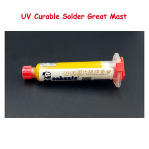 2pcs Yellow Uv Curable Solder Mask 10cc For Pcb Circuit Board Protect