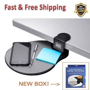 Original Desk Potato Easy Clamp Attachable Desk Shelf Mouse Pad Lightweight New
