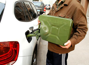 New Jerry Can 5 Gallon Gas Fuel diesel Military Metal Tank Green free Shipping
