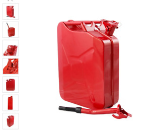 New Jerry Can 5 Gallon Gas Fuel diesel Military Metal Tank Red free Shipping