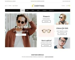 Dropshipping Shopify Sunglasses Store website